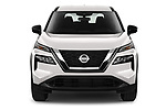 Car photography straight front view of a 2021 Nissan Rogue S 5 Door SUV Front View