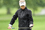 USA Morgan Pressel reacts after missing her putt on the 6th hole at the LPGA Championship 2011 Sponsored By Wegmans at Locust Hill Country Club in Rochester, New York on June 24, 2011