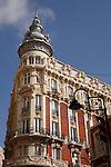 Fachada del Gran Hotel, un edificio modernista en el centro de Cartagena.