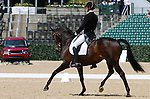 April 24, 2014: Crown Talisman and Doug Payne compete in Dressage at the Rolex Three Day Event in Lexington, KY at the Kentucky Horse Park.  Candice Chavez/ESW/CSM