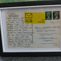 BNPS.co.uk (01202 558833)<br /> Pic: NeilCrocker/BNPS<br /> <br /> A postcard sent by a Royal Navy officer from South America has reached its recipient 30 years later.<br /> <br /> Neil Crocker sent it during a stop-off at Chile in 1991 while returning from the Falkland Island onboard HMS Cumberland.<br /> <br /> He sent it to his future father-in-law to 'make a good impression' before asking for his daughter's hand in marriage.
