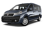 Stock pictures of low aggressive front three quarter view of a 2015 Fiat SCUDO EXECUTIVE 5 Door Combi Low Aggressive