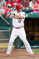 Stephen Piscotty (12) of the Springfield Cardinals stands in the batters box while at bat during a game against the Northwest Arkansas Naturals at Hammons Field on July 28, 2013 in Springfield, Missouri. (David Welker/Four Seam Images)