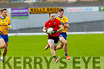 Darren O'Sullivan Glenbeigh-Glencar goes past Ethan Coffey Beaufort during their Club Intermediate qf in Fitzgerald Stadium on Sunday