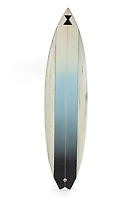 """COPY BY TOM BEDFORD<br /> Pictured: A custom made surf board from the film Point Break once belonged to actor Patrick Swayze that was sold at auction<br /> Re: The iconic black leather jacket worn by Patrick Swayze in the hit film Dirty Dancing has sold for $50,000 (£38,612) at auction.<br /> It was bought by a fan after the tragic actor's wife decided to sell his movie memorabilia. <br /> The jacket had a reserve of just $6,000(£4,630) at the auction in Los Angeles but an internet bid of $25,000(£19,300) was received before the auction started.<br /> The salesroom erupted with applause when the hammer came down at $50,000.<br /> Auctioneer Darren Julien said: """"We always knew it would fetch big bucks.<br /> """"The jacket is the holy grail for Patrick Swayze fans and there are a lot out there.""""  <br /> The heart throb actor wore the James Dean-style jacket throughout Dirty Dancing including the  scene where he says: """"Nobody puts Baby in a corner"""".<br /> The jacket belonged to Swayze before the movie was made in 1987.<br /> Dirty Dancing was a low-budget movie and most of the clothes Swayze's wore were his own, including the leather jacket.<br /> Mr Julien said: """"Because it was his jacket he got to keep it after the movie and wore it whenever he felt like it."""