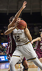 Mar. 20, 2015; Taya Reimer drives to the net against Montana in the first round of the NCAA Tournament at the Purcell Pavilion. Notre Dame defeated Montana 77 to 43. Photo by Barbara Johnston/University of Notre Dame)