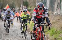 Greg Van Avermaet (BEL/BMC) up the Molenberg<br /> <br /> 72nd Omloop Het Nieuwsblad 2017