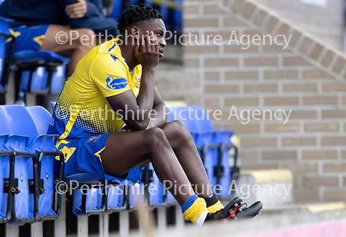 St Johnstone FC…..<br />Tanto Olaofe<br />Picture by Graeme Hart.<br />Copyright Perthshire Picture Agency<br />Tel: 01738 623350  Mobile: 07990 594431