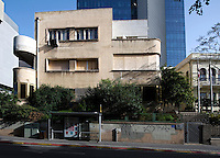 A Bauhaus style building at 48 Rothschild Boulevard built by architect Pinhas Hutt in 1933. Tel Aviv is known as the White City in reference to its collection of 4,000 Bauhaus style buildings, the largest number in any city in the world. In 2003 the Bauhaus neighbourhoods of Tel Aviv were placed on the UNESCO World Heritage List. .