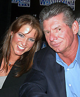 Wrestlemania XIX Press Conference  Stephanie McMahon  Vince McMahon 2003                                  By John Barrett/PHOTOlink