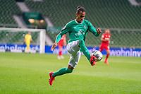 18th May 2020, WESERSTADION, Bremen, Germany; Bundesliga football, Werder Bremen versus Bayer Leverkusen; Theodor Gebre Selassie (Werder Bremen) moves forward on the ball
