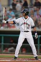 April 17, 2010: Mark Ori of the Lancaster JetHawks during game against the Rancho Cucamonga Quakes at Clear Channel Stadium in Lancaster,CA.  Photo by Larry Goren/Four Seam Images