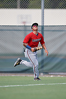 GCL Twins outfielder Erick Rivera (58) during a Gulf Coast League game against the GCL Pirates on August 6, 2019 at Pirate City in Bradenton, Florida.  GCL Twins defeated the GCL Pirates 4-2 in the first game of a doubleheader.  (Mike Janes/Four Seam Images)