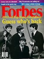 Forbes cover, Beatles, September 1995. Photo by John G. Zimmerman.
