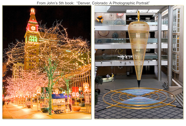 """Daniels & Fisher Clocktower and inside the Wellington Webb Building.<br /> From John's 5th book: """"Denver Colorado: A Photographic Portrait."""" Private photo tours of Denver by John. Click the above CONTACT button for inquiries. Denver private tours."""