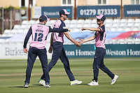 Middlesex players celebrate taking the wicket of Adam Wheater during Essex Eagles vs Middlesex, Vitality Blast T20 Cricket at The Cloudfm County Ground on 18th July 2021