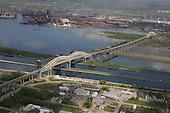 International Bridge, Sault Ste Marie, Upper Peninsula of Michigan.