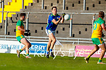 Jack Barry, Kerry in action against Ethan O'Donnell, Donegal during the Allianz Football League Division 1 Round 7 match between Kerry and Donegal at Austin Stack Park in Tralee on Saturday.