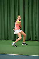 Rotterdam, The Netherlands, 15.03.2014. NOJK 14 and 18 years ,National Indoor Juniors Championships of 2014, Fleur Holtkamp (NED)<br /> Photo:Tennisimages/Henk Koster
