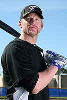 March 1, 2010:  First Baseman Lyle Overbay (35) of the Toronto Blue Jays poses for a photo during media day at Englebert Complex in Dunedin, FL.  Photo By Mike Janes/Four Seam Images