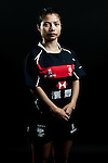 Hoty Chan Ho Ting poses during the Hong Kong 7's Squads Portraits on 5 March 2012 at the King's Park Sport Ground in Hong Kong. Photo by Andy Jones / The Power of Sport Images for HKRFU