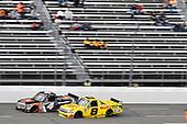 #4: Todd Gilliland, Kyle Busch Motorsports, Toyota Tundra JBL/SiriusXM, #8: John Hunter Nemechek, NEMCO Motorsports, Chevrolet Silverado