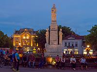 Bibliothek und Denkmal am Trg Slobode, Subotica, Vojvodina, Serbien, Europa<br /> Library, former Casino and Monument at Trg Slobode, Subotica, Vojvodina, Serbia, Europe