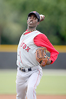 August 14, 2008: Pedro Perez (45) of the GCL Red Sox. Photo by: Chris Proctor/Four Seam Images