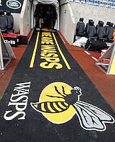 Photo: Richard Lane/Richard Lane Photography. Wasps v London Irish. Aviva Premiership. 21/12/2014. Wasps' first game at the Ricoh Arena as their new home. Wasps tunnel.