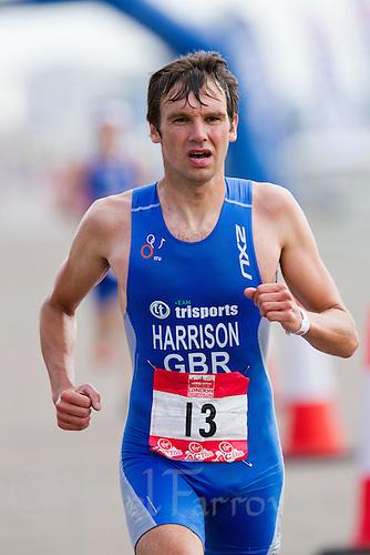 31 JUL 2011 - LONDON, GBR - Stephen Harrison - Elite Men's race - Virgin Active London Triathlon (PHOTO (C) NIGEL FARROW)