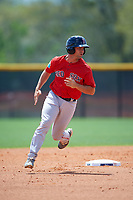 Boston Red Sox Tyler Spoon (25) during a minor league Spring Training game against the Tampa Bay Rays on March 23, 2016 at Charlotte Sports Park in Port Charlotte, Florida.  (Mike Janes/Four Seam Images)