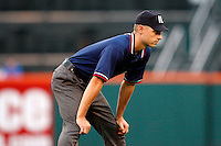 June 29, 2009:  Third Base Umpire Derek Crabill during a game at Coca-Cola Field in Buffalo, NY.  Photo by:  Mike Janes/Four Seam Images