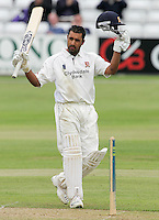 Ravi Bopara of Essex acknowledges his century - Essex CCC vs Northamptonshire CCC - LV County Championship at Ford County Ground, Chelmsford, Essex - 06/06/07 - MANDATORY CREDIT: Gavin Ellis/TGSPHOTO - IMAGES USED WILL BE INVOICED AT STANDARD RATES...