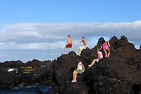 Meerespool Piscinas Naturais in Biscoitos auf der Insel Terceira, Azoren, Portugal