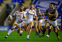 13th November 2020; The Halliwell Jones Stadium, Warrington, Cheshire, England; Betfred Rugby League Playoffs, Catalan Dragons versus Leeds Rhinos; An early break by Sam Tomkins of Catalans Dragons results in the first try of the match