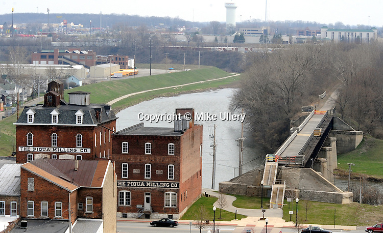 Views from atop the Piqua Fire Department aerial truck