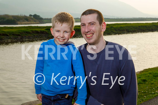 Enjoying a stroll in Blennerville on Thursday, l to r: Oran and Gerard Colhoun.