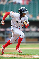 Reading Fightin Phils center fielder Roman Quinn (4) during a game against the New Hampshire Fisher Cats on May 30, 2016 at Northeast Delta Dental Stadium in Manchester, New Hampshire.  New Hampshire defeated Reading 9-1.  (Mike Janes/Four Seam Images)