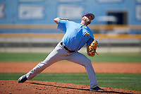 Tampa Bay Rays pitcher Matt Seelinger (49) during a Minor League Spring Training game against the Boston Red Sox on March 25, 2019 at the Charlotte County Sports Complex in Port Charlotte, Florida.  (Mike Janes/Four Seam Images)
