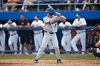 Deacon Liput (8) of the Florida Gators at bat against the Wake Forest Demon Deacons in the completion of Game Two of the Gainesville Super Regional of the 2017 College World Series at Alfred McKethan Stadium at Perry Field on June 12, 2017 in Gainesville, Florida. The Demon Deacons walked off the Gators 8-6 in 11 innings. (Brian Westerholt/Four Seam Images)