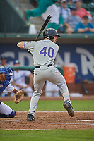 Chad Spanberger (40) of the Grand Junction Rockies bats against the Ogden Raptors at Lindquist Field on September 6, 2017 in Ogden, Utah. Ogden defeated Grand Junction 11-7. (Stephen Smith/Four Seam Images)