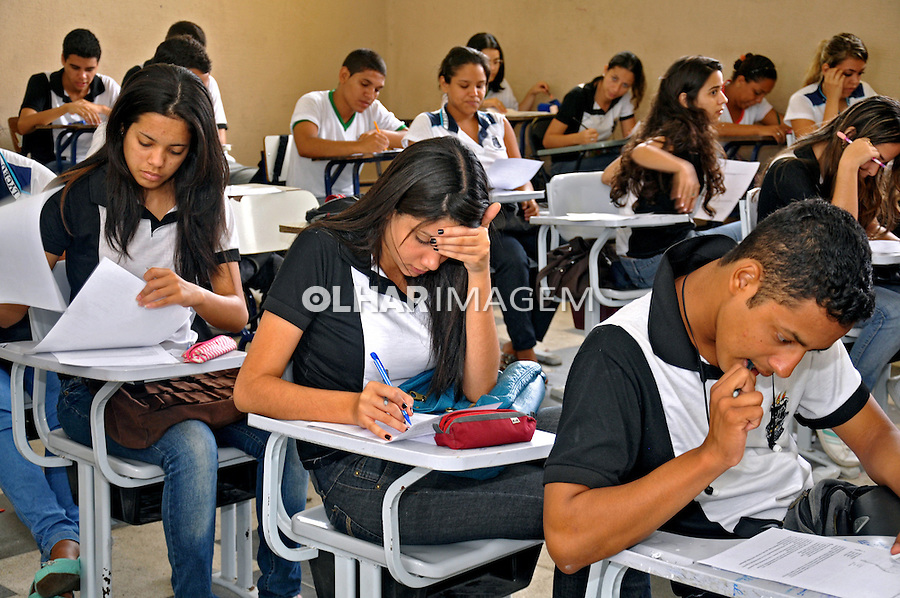 Sala da aula na Escola Estadual Lyceu Paraibano. Joao Pessoa. Paraiba. 2015. Foto de Kleide Teixeira.