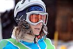 Challenge Mer et Montagne 2012, Saint Gervais les Bains, Mont Blanc, Haute Savoie, France..Ski Super Geant..Carine Duret
