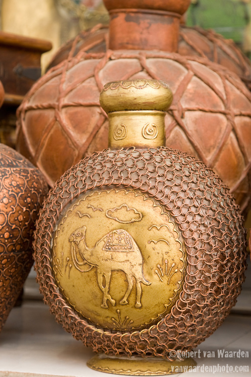 Jars and pottery outside of the souq in Mutrah. Oman - National Geographic Traveler