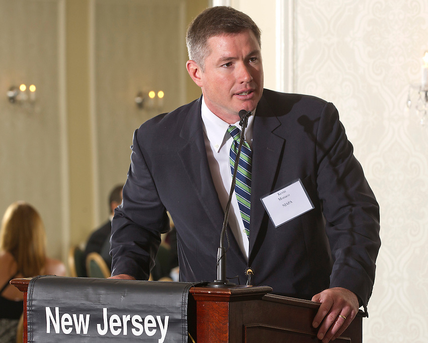 New Jersey Asphalt Pavement Association Executive Director Kevin Monaco speaks at the 2013 NJAPA Annual Awards Program at the Molly Pitcher in Red Bank on May 15, 2014.  photo by Andrew Mills