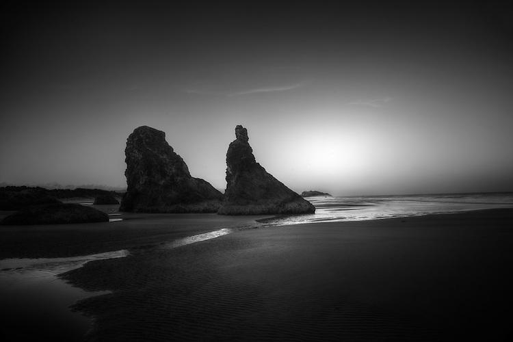 Bandon, Oregon,  Black and White Photography
