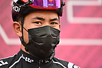 Caleb Ewan (AUS) Lotto-Soudal at sign on before the start of Stage 5 of the 2021 Giro d'Italia, running 177km from Modena to Cattolica, Italy. 12th May 2021.  <br /> Picture: LaPresse/Gian Mattia D'Alberto | Cyclefile<br /> <br /> All photos usage must carry mandatory copyright credit (© Cyclefile | LaPresse/Gian Mattia D'Alberto)
