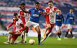 18.3.2021 Rangers v Slavia Prague: Alfredo Morelos charges through three defenders