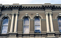 Fremantle: Bank of New South Wales, 1891--facade. Sir J.J. Talbot Hobbs. (Formerly Western Austrailia Bank.) Photo '82.