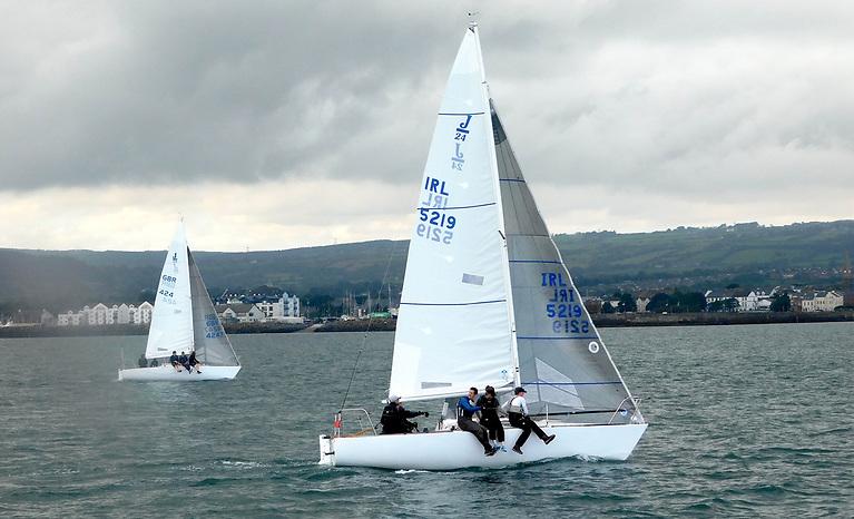 'El Riccio' winning the J24 Northerns flying her North Sails 'Fat Head' Main and SDTH Genoa